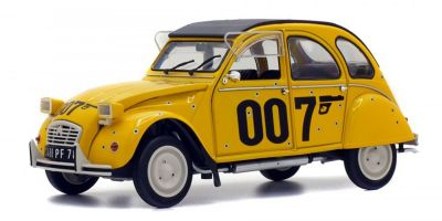 "SOLIDO 1/18scale Citroen 2 CV 6 007 ""Your Eyes Only"" 1981 Yellow  [No.S1850012]"