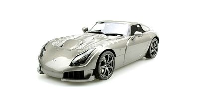 TOPMARQUES 1/18scale TVR SAGARIS 2005 Silver  [No.TOPLS008C]