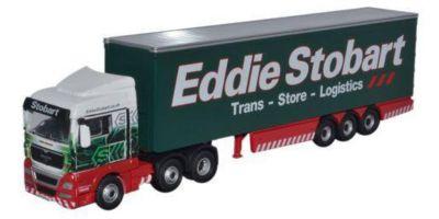 OXFORD 1/76scale MAN TGX XLX Curtain Side Truck Eddie Stobart  [No.OXSTOB040]