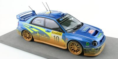 TOPMARQUES 1/18scale Subaru Impreza S7 555 WRT No.10 / 2002 Monte Carlo Rally winner Tommy Makinen / Kaj Lindstrom (Weathering paint)  [No.TOP037AD]