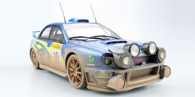 TOPMARQUES 1/18scale Subaru Impreza S7 555 WRC No.10 2002 Monte Carlo Night and dirty version  [No.TOP037CD]
