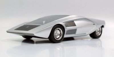TOPMARQUES 1/18scale Lancia Stratos Zero concept (Silver)  [No.TOP067B]