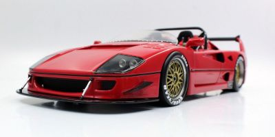 TOPMARQUES 1/18scale Ferrari F40 LM Beurlys Barchetta (Red)  [No.TOP068B]