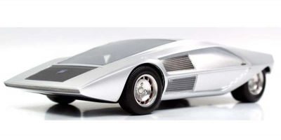 TOPMARQUES 1/43scale Lancia Stratos ZERO Concept (Silver)  [No.TOP43009B]