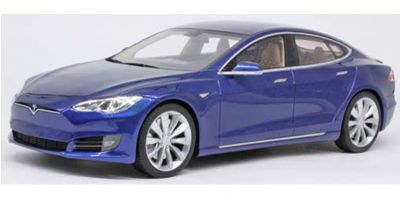 TOPMARQUES 1/18scale Tesla Model S Facelift Blue  [No.TOPLS028E]