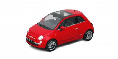 WELLY 1/18scale Fiat 500 2007 (Red)  [No.WE18012R]