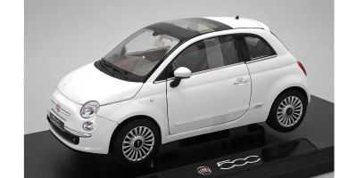 WELLY 1/18scale Fiat 500 2007 White  [No.WE18012W]