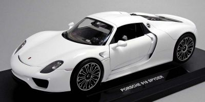 WELLY 1/18scale Porsche 918 Spider Hard Top White  [No.WE18051HW]