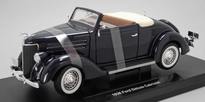 WELLY 1/18scale Ford Deluxe Cabriolet 1936 Dark Blue  [No.WE19867DB]