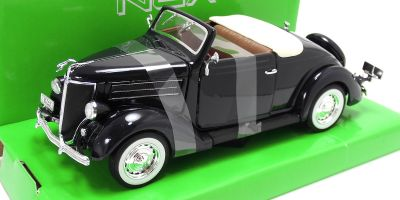 WELLY 1/24scale Ford Deluxe Cabriolet 1936 Metallic Blue [No.WE22422MB]