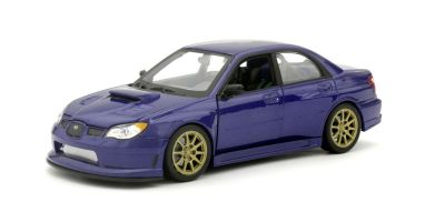 WELLY 1/24scale Subaru Impreza WRX STI (Blue) without spoiler / gold foil  [No.WE22487BNS]