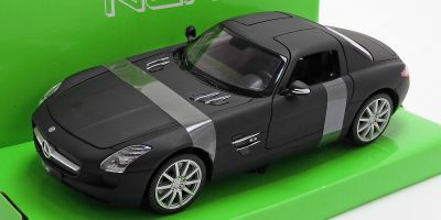 WELLY 1/24scale Mercedes-Benz SLS AMG Matte Black  [No.WE24025MBK]