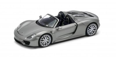 WELLY 1/24scale Porsche 918 Spyder convertible Silver  [No.WE24055CS]