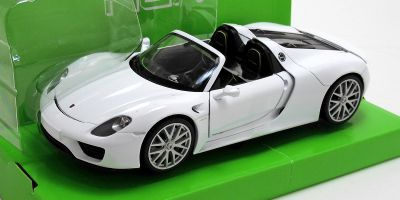 WELLY 1/24scale Porsche 918 Spyder convertible White  [No.WE24055CW]