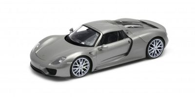 WELLY 1/24scale Porsche 918 Spyder Hardtop Silver  [No.WE24055HS]