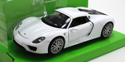 WELLY 1/24scale Porsche 918 Spyder Hardtop White  [No.WE24055HW]