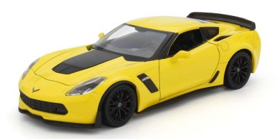 WELLY 1/24scale Chevrolet Corvette 2017 Z06 Yellow  [No.WE24085Y]