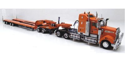 DRAKE 1/50scale KENWORTH T909  + DRAKE 2x8 DOLLY + DRAKE 4x8 SWINGWING トレーラー ドレイクオレンジ [No.ZT09028]