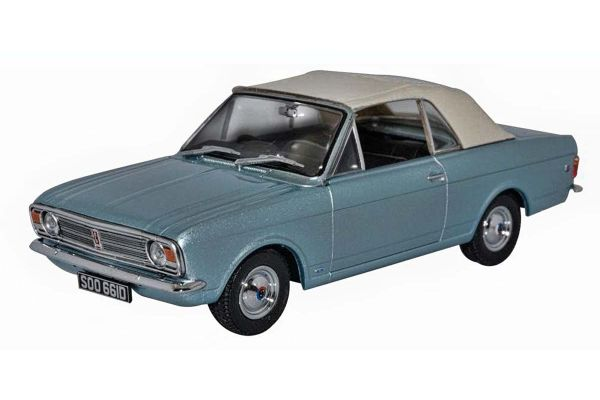 OXFORD 1/43scale Ford Cortina Mkii Crayford Convertible Blue Mink Crew Up  [No.OX43CCC001A]