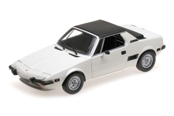 MINICHAMPS 1/18scale FIAT X1/9 – 1974 – WHITE  [No.100121665]