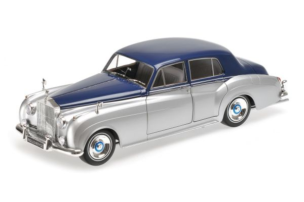 MINICHAMPS 1/18scale ROLLS ROYCE SILVER CLOUD II – 1960 – SILVER/BLUE  [No.100134902]