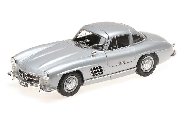 MINICHAMPS 1/18scale MERCEDES-BENZ 300 SL (W198) - 1955 - SILVER  [No.110037210]
