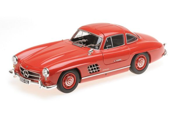 MINICHAMPS 1/18scale MERCEDES-BENZ 300 SL (W198) - 1955 - RED  [No.110037211]