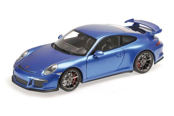 MINICHAMPS 1/18scale PORSCHE 911 GT3 (991) – 2013 – BLUE METALLIC [No.110062725]