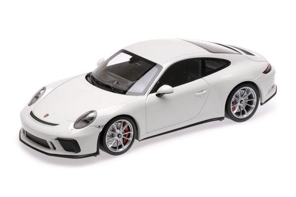MINICHAMPS 1/18scale PORSCHE 911 GT3 TOURING – 2018 – WHITE  [No.110067421]