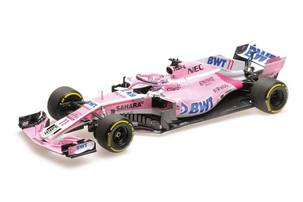 MINICHAMPS 1/18scale SAHARA FORCE INDIA F1 MERCEDES VJM11 – SERGIO PÉREZ – 2018  [No.110180011]