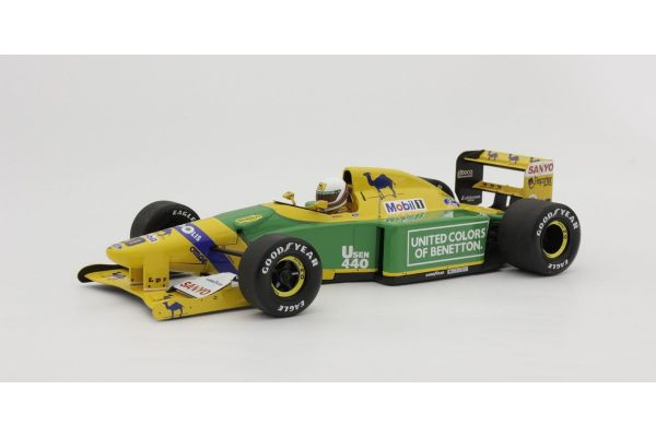 MINICHAMPS 1/18scale BENETTON-FORD B192 – MARTIN BRUNDLE – 3RD PLACE GREAT BRITAIN SILVERSTONE 1992  [No.110920020]