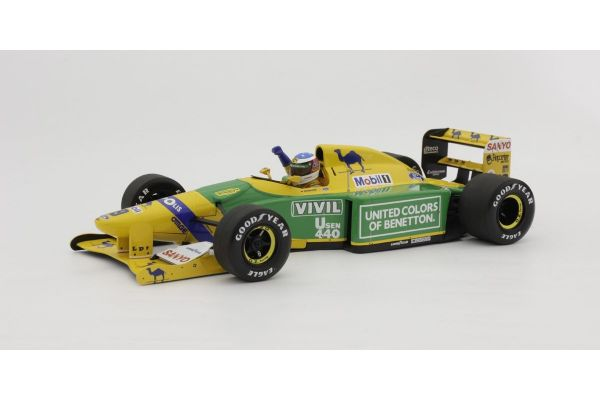 MINICHAMPS 1/18scale BENETTON-FORD B192 – MICHAEL SCHUMACHER – 3RD PLACE GP GERMANY 1992  [No.110920099]