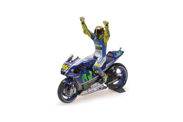 MINICHAMPS 1/12scale YAMAHA YZR-M1 – MOVISTAR YAMAHA MOTOGP – VALENTINO ROSSI – MOTOGP SILVERSTONE 2015 – W/ FIGURINE  [No.122153146]
