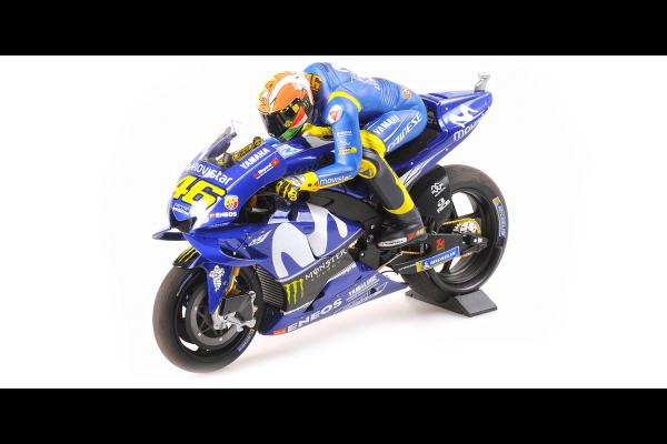 MINICHAMPS 1/12scale Yamaha YZR-M1 Rossi Mugello GP2018 with Pole Position Figure  [No.122183146]