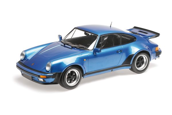 MINICHAMPS 1/12scale PORSCHE 911 TURBO – 1977 – BLUE METALLIC  [No.125066104]
