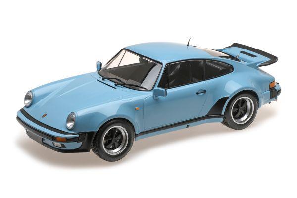 MINICHAMPS 1/12scale PORSCHE 911 TURBO – 1977 – BLUE  [No.125066105]
