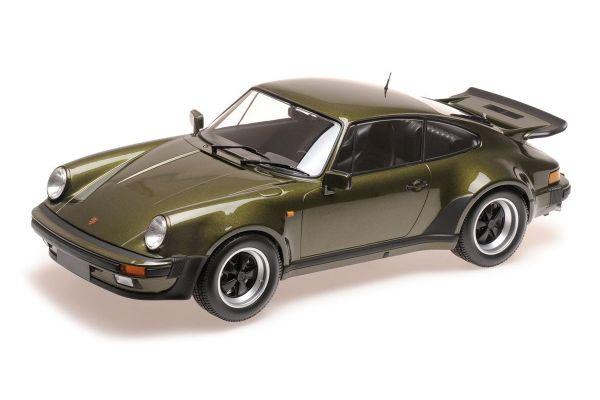 MINICHAMPS 1/12scale PORSCHE 911 TURBO – 1977 – OLIVE  [No.125066122]