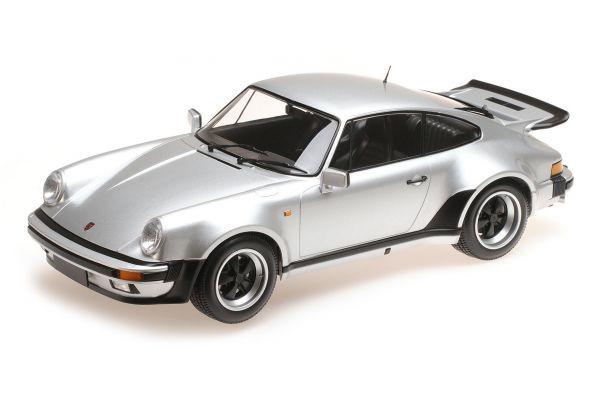 MINICHAMPS 1/12scale PORSCHE 911 TURBO – 1977 – SILVERGREEN METALLIC  [No.125066125]
