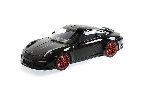 MINICHAMPS 1/12scale Porsche 911 R 2016 Black / Red Wheel  [No.125066322]