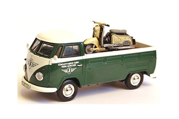 Premium ClassiXXs 1/43scale VW T1 Pritsche Green Zundapp Bella Bike Loading  [No.PCS13901]