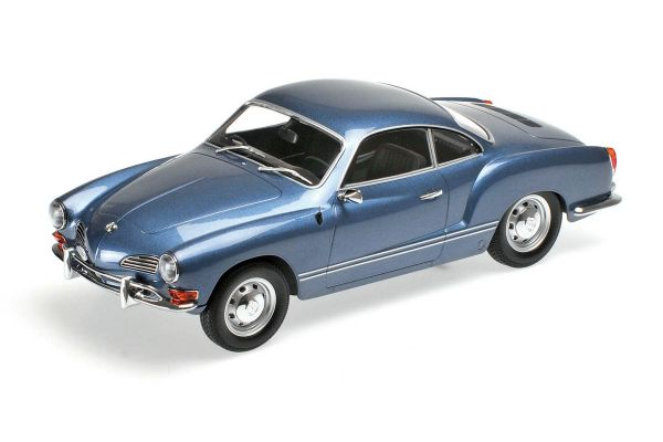 MINICHAMPS 1/18scale VOLKSWAGEN KARMANN GHIA COUPÉ – 1970 – BLUE [No.155054022]