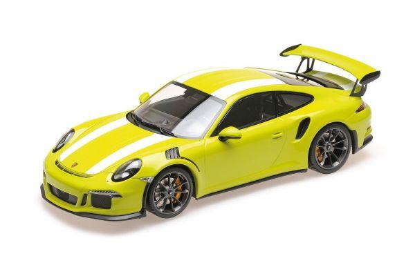 MINICHAMPS 1/18scale PORSCHE 911 GT3 RS (991) – 2015 – LICHTGRÜN W/WHITE STRIPE  [No.155066224]