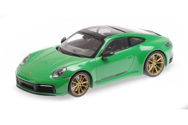 MINICHAMPS 1/18scale Porsche 911 Carrera 4S 2020 Green  [No.155067325]