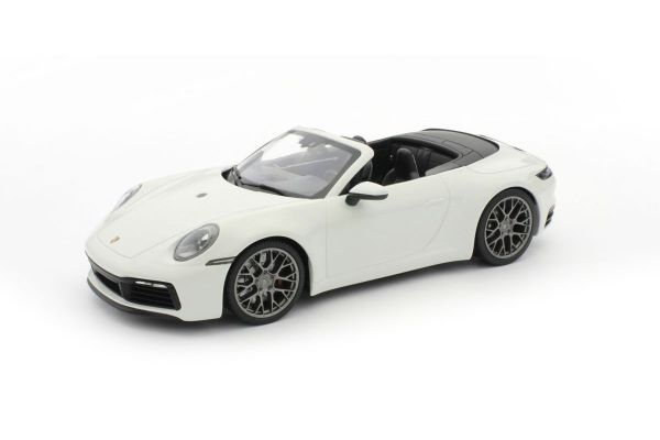 MINICHAMPS 1/18scale PORSCHE 911 CARRERA 4S CABRIOLET – 2019 – WHITE  [No.155067330]