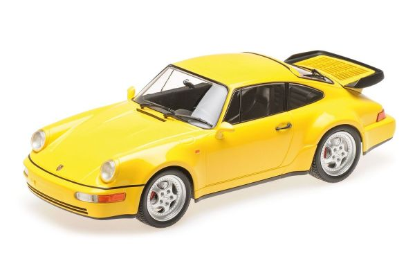 MINICHAMPS 1/18scale PORSCHE 911 TURBO (964) - 1990 - YELLOW  [No.155069100]
