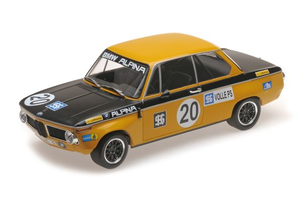 MINICHAMPS 1/18scale BMW 1600 – BMW ALPINA – HELMUT MARKO – CLASS WINNER AUSTRIA TROPHÄE SALZBURGRING ETCC 1970  [No.155702620]