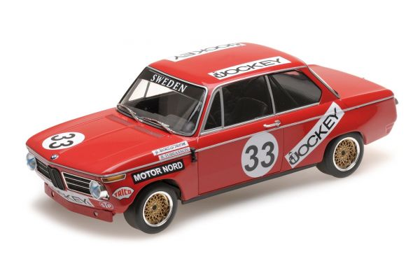 MINICHAMPS 1/18scale BMW 2002 – JOCKEY RACING – TOBIASSON/NORDSTRÖM – NÜRBURGRING 6 HOURS 1972  [No.155722633]