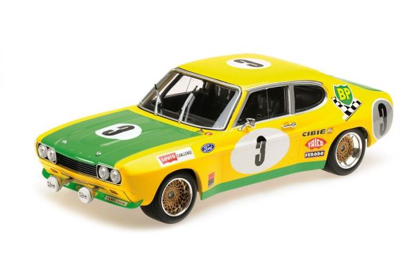 MINICHAMPS 1/18scale FORD RS 2600 - FORD BP RACING TEAM - BIRREL/BOURGOIGNIE - 2ND PLACE 24H SPA 1972  [No.155728503]