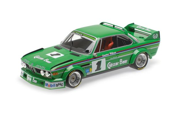 MINICHAMPS 1/18scale BMW 3.0 CSL – ALPINA – NILSSON/QUESTER – WINNERS GP NÜRBURGRING 1977  [No.155772501]