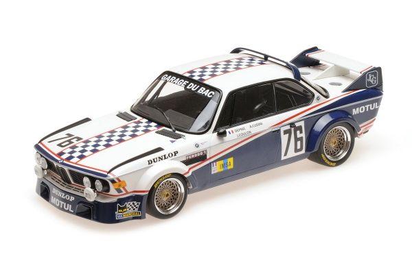 MINICHAMPS 1/18scale BMW 3.0 CSL – GARAGE DU BAC – 'DEPNIC'/COULON – 24H LE MANS 1977  [No.155772576]